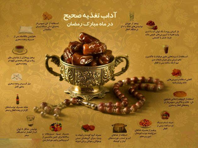 آداب تغذیه صحیح در ماه مبارک رمضان