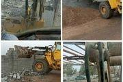تخریب 6 فقره ساخت و ساز غیرمجاز در زمینهای کشاورزی شهرستان اردستان