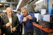 بازدید استاندار اصفهان از مجتمع تولیدی برنا باطری در مبارکه