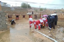 امدادرسانی هلال احمر اصفهان به 498 نفر از حادثه دیدگان ناشی از بارندگی
