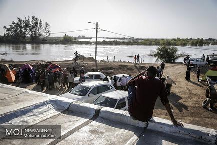 زیر آب رفتن منطقه سوسنگرد خوزستان