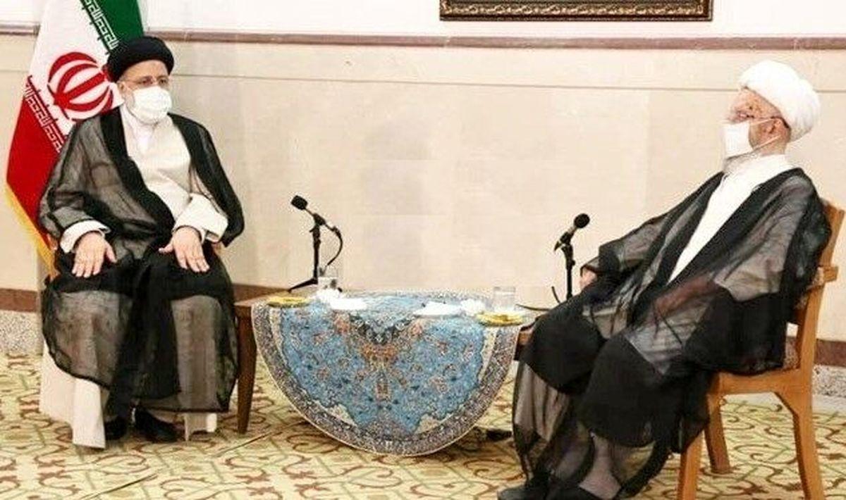 حضور رئیس جمهور منتخب در دفتر آیت الله مکارم شیرازی