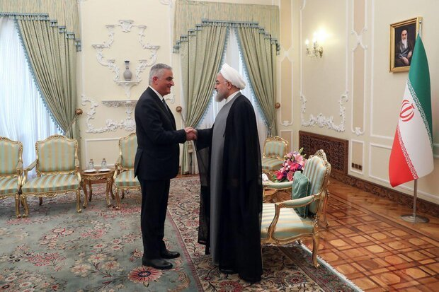 دیدار معاون نخست وزیر ارمنستان با روحانی