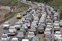 ترافیک در محور شهریار - تهران نیمه سنگین است