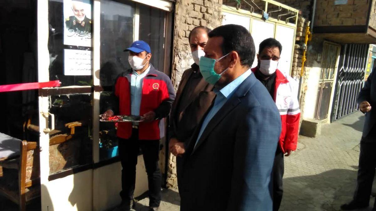 افتتاح نخستین خانه هلال شهری ملایر در منطقه کمبرخوردار «سرِجو»