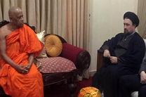 سید حسن خمینی با رهبر بوداییان سریلانکا دیدار کرد