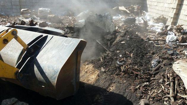 تخریب ۲۰ حلقه چاه غیر مجاز تولید زغال در نجف آباد