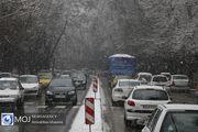بارش برف و باران در برخی از محورهای استان مازندران