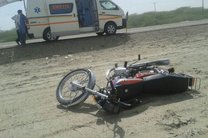 واژگونی مرگبار یک موتورسیکلت سوار در اصفهان