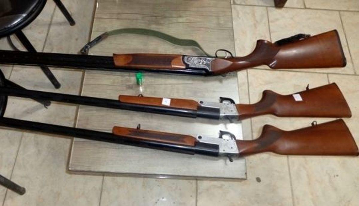 کشف 3 سلاح شکاری غیرمجاز در گلپایگان