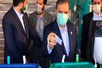 محسن رضایی رأی خود را به صندوق آرا انداخت