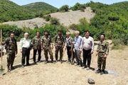 مهار حریق در جنگل سقزچی شهرستان نمین
