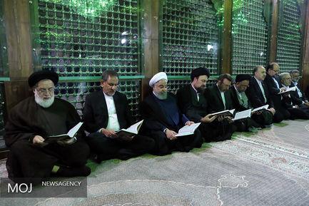 تجدید میثاق رییس جمهوری و اعضای هیات دولت با آرمان های بنیانگذار انقلاب اسلامی
