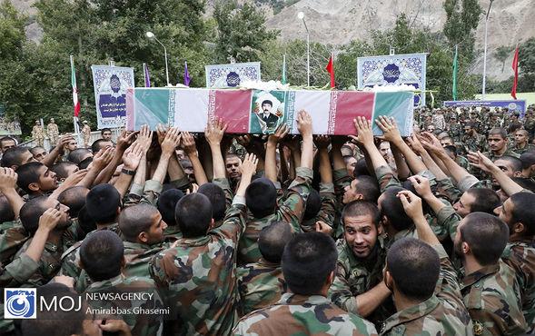 تشییع پیکر شهید دوران دفاع مقدس حسین ادبیان