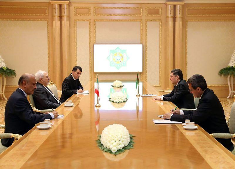 دیدار ظریف با رئیس جمهور ترکمنستان