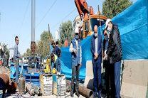 بازدید رئیس شورای اسلامی شهر قم از محل اصلاح و بهسازی خط لوله اصلی رینگ غربی
