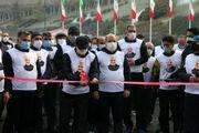 همایش پیاده روی سردار دلها با ادای احترام به شهدای گمنام برگزار شد