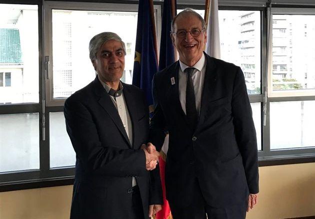 هاشمی با رئیس کمیته المپیک فرانسه دیدار کرد