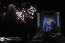 نورافشانی و ویدیو مپینگ برج آزادی در شب ۲۲ بهمن