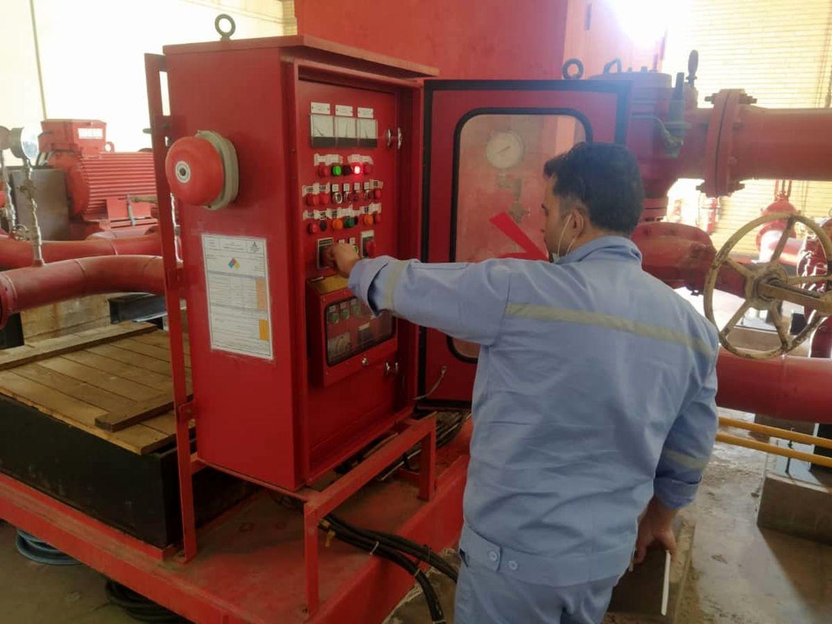 تست کلیه تجهیزات ایمنی و آتش نشانی مراکز انتقال نفت منطقه خلیج فارس