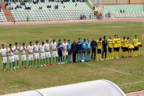 فوتبال بین خیبر خرمآباد و فجر سپاسی شیراز بدون گل به پایان رسید