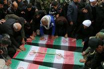 پیکر پاک سه شهید سپاه در شهرستان قروه تشییع شد