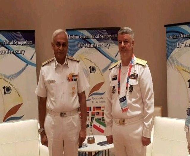 دریادار خانزادی با فرمانده نیروی دریایی ارتش هند دیدار کرد