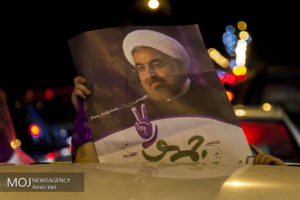 شادی حامیان پس از پیروزی در انتخابات