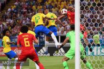 نتیجه بازی برزیل و بلژیک در جام جهانی/ حذف برزیل در عین ناباوری
