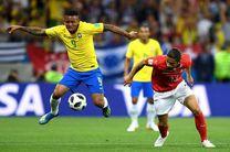 نتیجه بازی سوئیس و برزیل در جام جهانی/ادامه شگفتی ها در روسیه