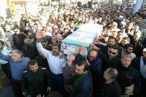 تشییع و خاکسپاری شهید مدافع حرم در اهواز برگزار شد