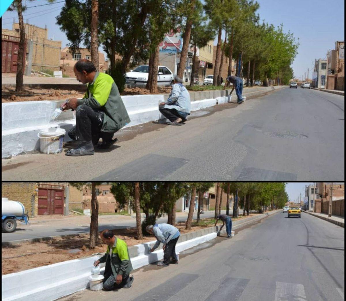 ادامه عملیات عمرانی برخی از معابر  شهر میبد آغاز شد