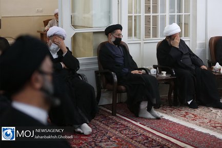 عزاداری شهادت امام صادق در بیت آیت الله العظمی فاضل لنکرانی