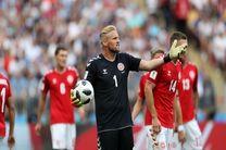 تساوی بدون گل فرانسه و دانمارک در نیمه نخست