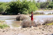 روستاییان میناب در جریان وقوع سیلاب قرار داشتند