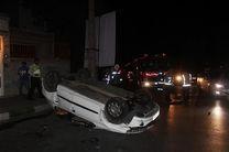 جزئیات واژگونی خودرو در منطقه پاسداران