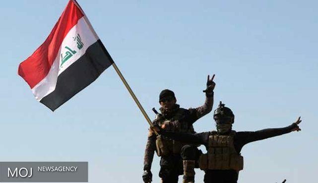 پرچم عراق بر فراز مرکز بهداشت منطقه جولان فلوجه نصب شد