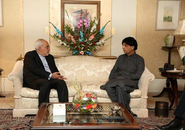 دیدار ظریف با وزیر کشور پاکستان