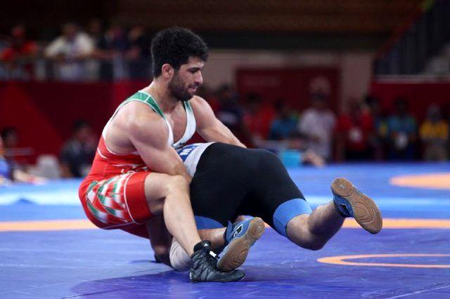 حسین نوری به مدال طلا دست یافت/ دومین طلایی کشتی فرنگی در بازی های آسیایی