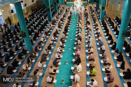 جزء خوانی قرآن کریم در در امامزاده ابراهیم اصفهان