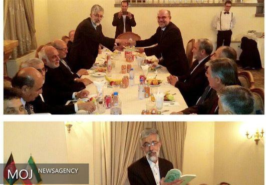 حدادعادل مجموعه شعرش را به سفیر افغانستان اهدا کرد