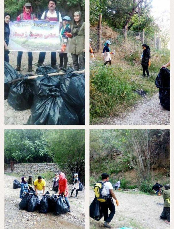محیط زیست آران و بیدگل توسط کوهنوردان پاکسازی شد
