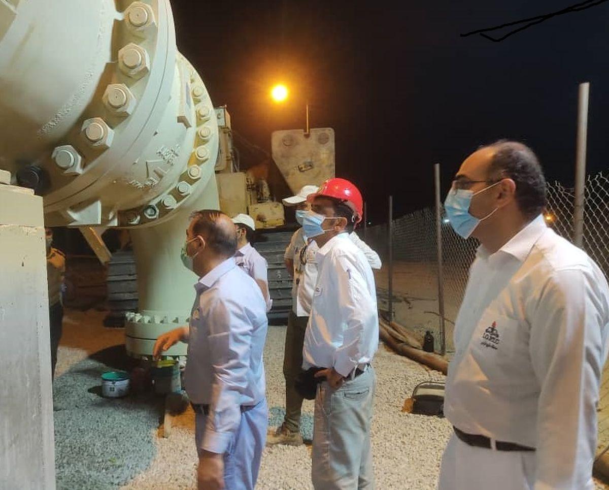 بازدید مدیر منطقه خلیج فارس از خطوط لوله 42 اینچ نفت خام گوره جاسک