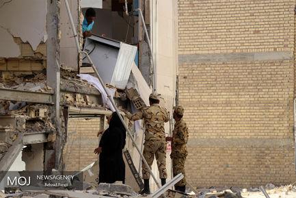 تخریب ساختمان های مسکونی در سرپل ذهاب
