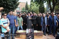 پیکر داریوش اسدزاده به آرامگاه ابدی بدرقه شد