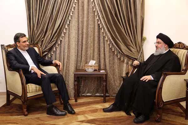 جابری انصاری با دبیرکل حزب الله لبنان دیدار کرد