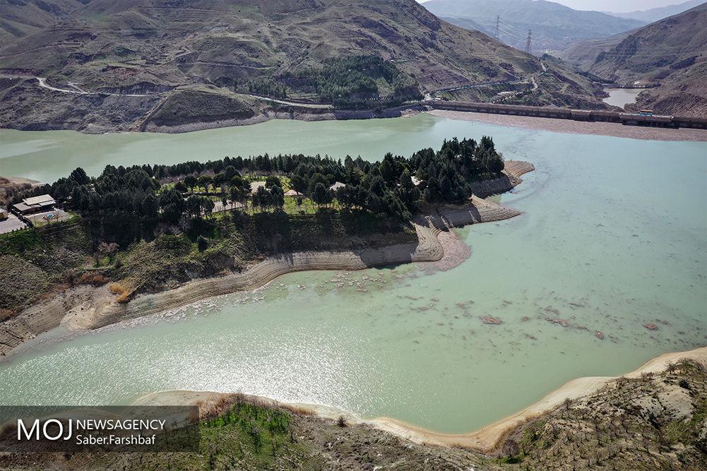 تصاویر هوایی از سد لتیان