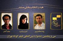 هیات انتخاب بخش مستند جشنواره فیلم کوتاه تهران معرفی شد