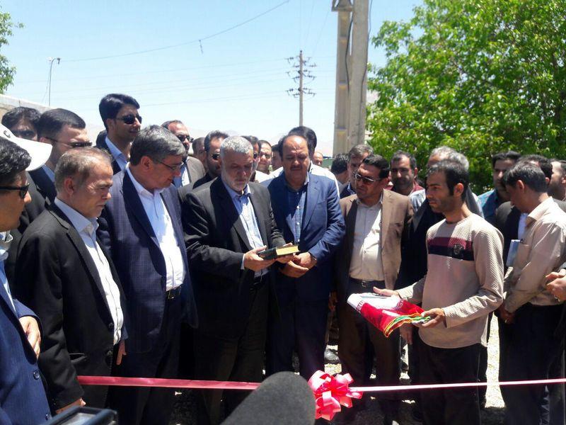 افتتاح سامانه نوین آبیاری در اسدآباد