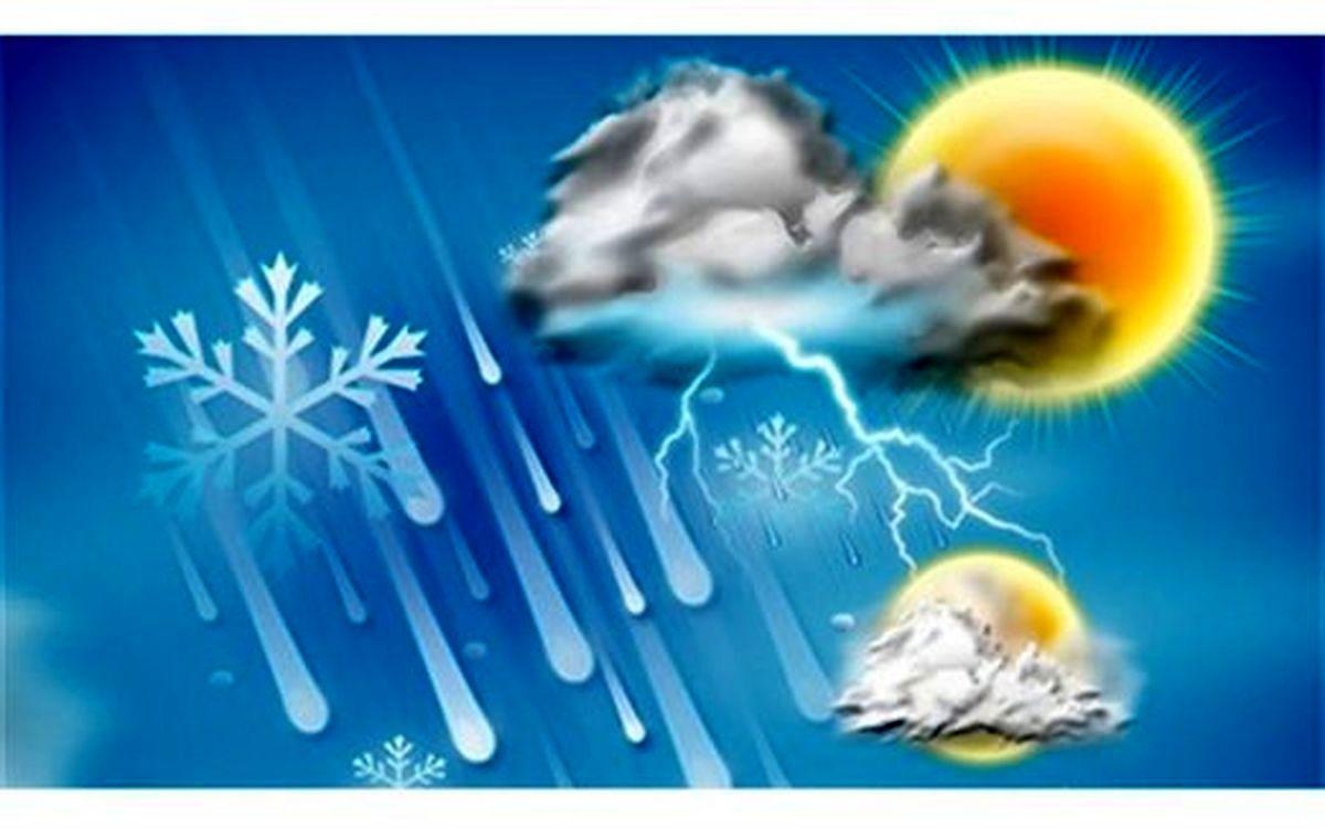 رگبار و رعد و برق در استانهای ساحلی خزر و اردبیل/ خزر مواج است